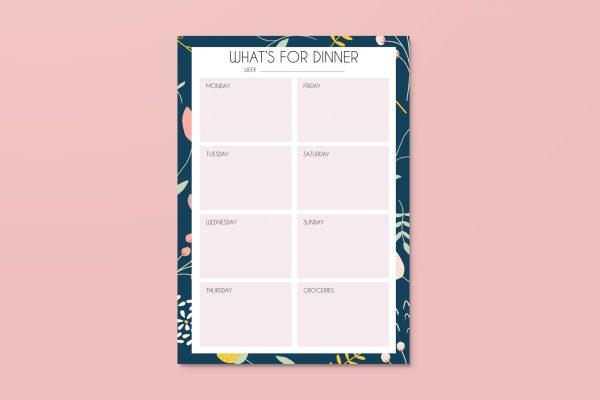 week menu planner